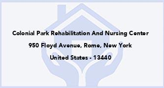 Colonial Park Rehabilitation And Nursing Center