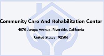 Community Care And Rehabilitation Center