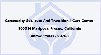 Community Subacute And Transitional Care Center