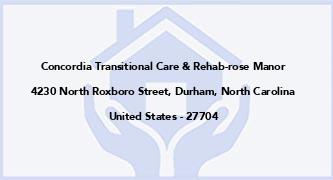 Concordia Transitional Care & Rehab-Rose Manor