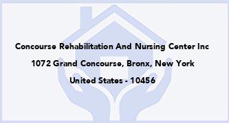 Concourse Rehabilitation And Nursing Center Inc
