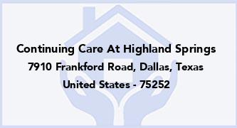 Continuing Care At Highland Springs
