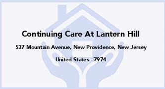 Continuing Care At Lantern Hill