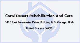 Coral Desert Rehabilitation And Care
