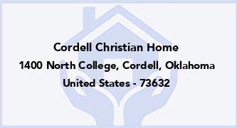 Cordell Christian Home