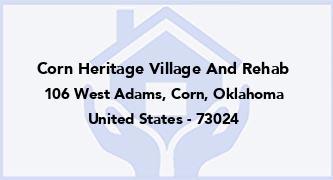 Corn Heritage Village And Rehab