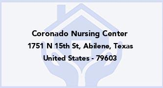 Coronado Nursing Center