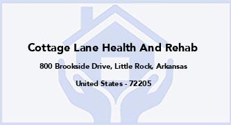 Cottage Lane Health And Rehab