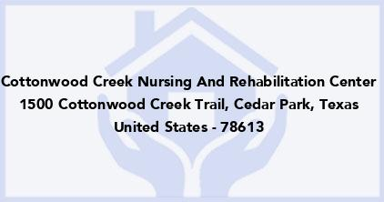 Cottonwood Creek Nursing And Rehabilitation Center
