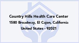 Country Hills Health Care Center