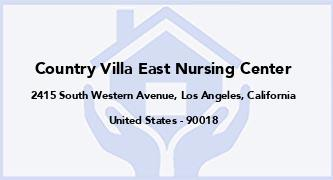 Country Villa East Nursing Center