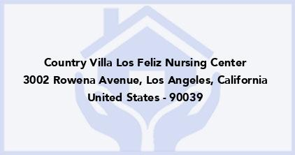 Country Villa Los Feliz Nursing Center