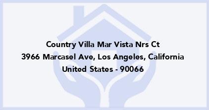 Country Villa Mar Vista Nrs Ct