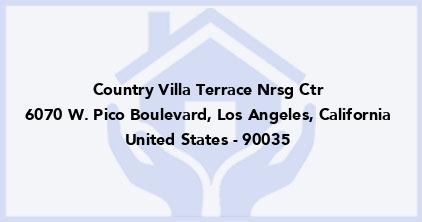 Country Villa Terrace Nrsg Ctr