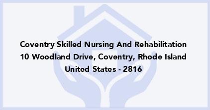 Coventry Skilled Nursing And Rehabilitation