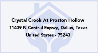 Crystal Creek At Preston Hollow
