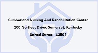 Cumberland Nursing And Rehabilitation Center