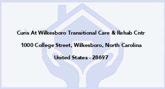 Curis At Wilkesboro Transitional Care & Rehab Cntr