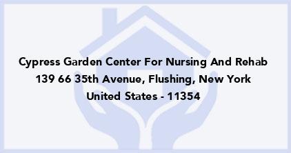 Cypress Garden Center For Nursing And Rehab