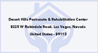 Desert Hills Post-Acute & Rehabilitation Center