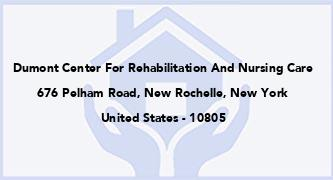 Dumont Center For Rehabilitation And Nursing Care