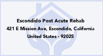Escondido Post Acute Rehab