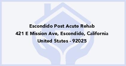 Escondido Post Acute Rehab