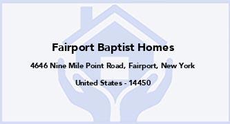 Fairport Baptist Homes