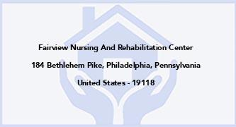 Fairview Nursing And Rehabilitation Center