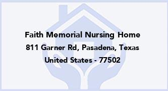 Faith Memorial Nursing Home