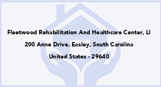 Fleetwood Rehabilitation And Healthcare Center, Ll