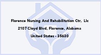 Florence Nursing And Rehabilitation Ctr,  Llc