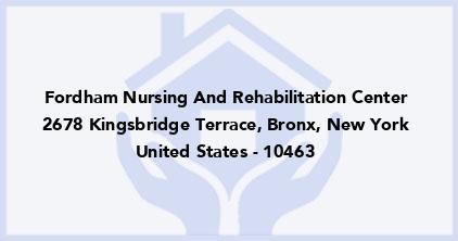 Fordham Nursing And Rehabilitation Center