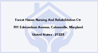 Forest Haven Nursing And Rehabilitation Ctr
