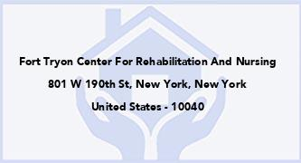 Fort Tryon Center For Rehabilitation And Nursing