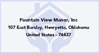 Fountain View Manor, Inc