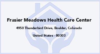 Frasier Meadows Health Care Center