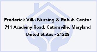 Frederick Villa Nursing & Rehab Center