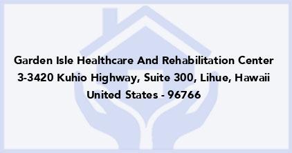 Garden Isle Healthcare And Rehabilitation Center