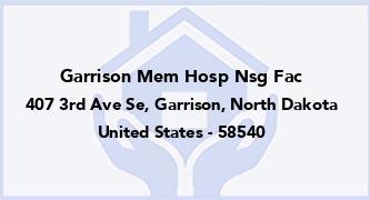 Garrison Mem Hosp Nsg Fac
