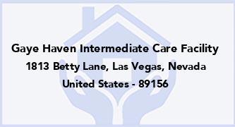 Gaye Haven Intermediate Care Facility