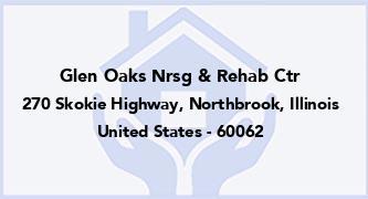 Glen Oaks Nrsg & Rehab Ctr