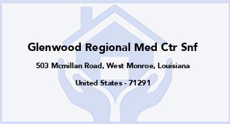 Glenwood Regional Med Ctr Snf