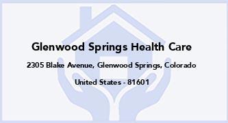 Glenwood Springs Health Care
