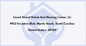 Grand Strand Rehab And Nursing Center, Llc