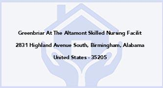 Greenbriar At The Altamont Skilled Nursing Facilit