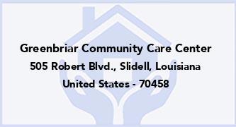 Greenbriar Community Care Center
