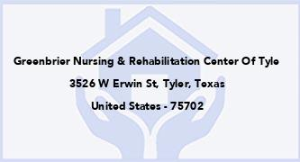 Greenbrier Nursing & Rehabilitation Center Of Tyle
