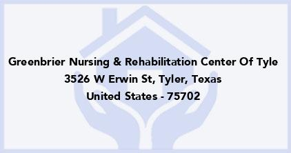 Greenbrier Nursing & Rehabilitation Center Of Tyle