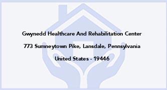 Gwynedd Healthcare And Rehabilitation Center